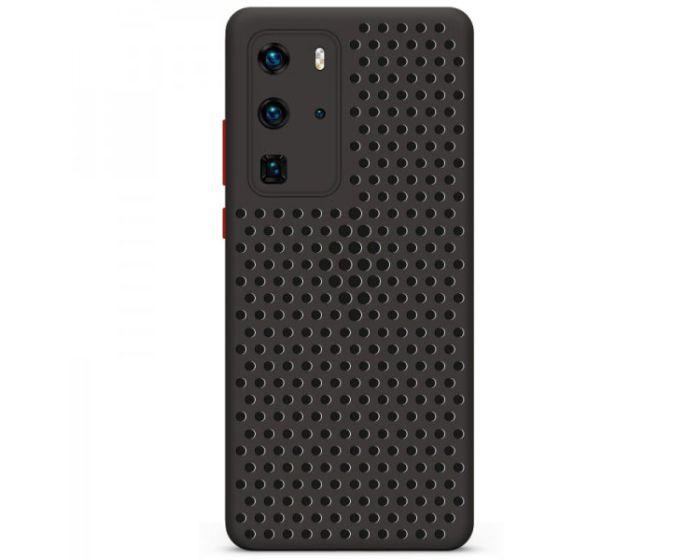 Breath Colored Buttons TPU Case Θήκη με Οπές Black (Huawei P40 Pro)