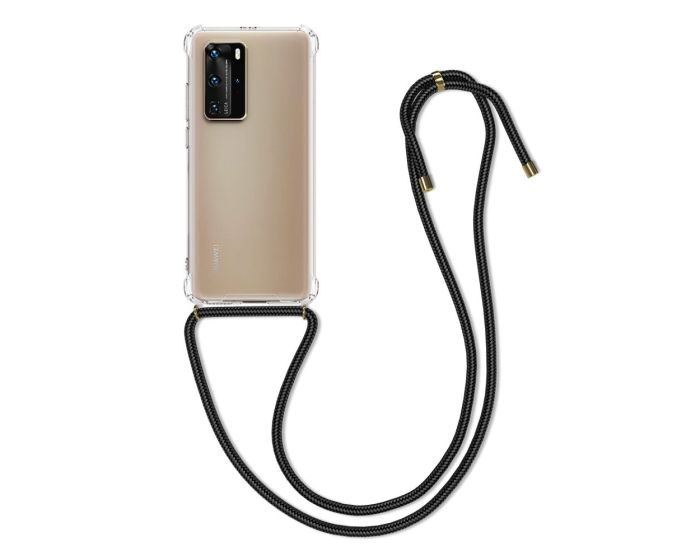 KWmobile Crossbody Silicone Case with Neck Cord Lanyard Strap (51846.03) Διάφανη (Huawei P40 Pro)