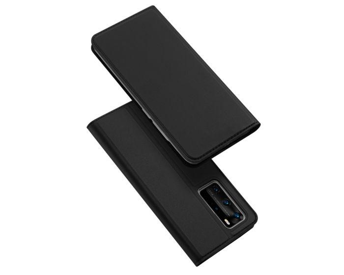 DUX DUCIS SkinPro Wallet Case Θήκη Πορτοφόλι με Stand - Black (Huawei P40 Pro)