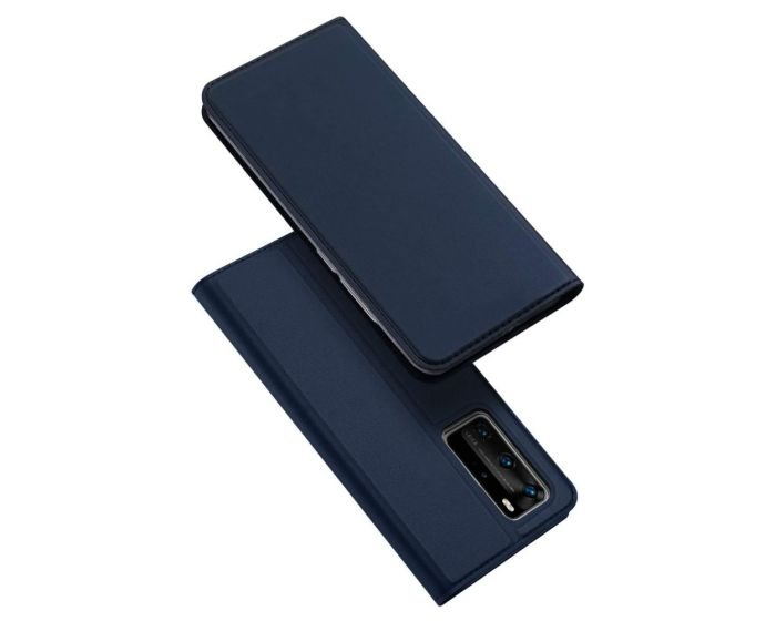 DUX DUCIS SkinPro Wallet Case Θήκη Πορτοφόλι με Stand - Navy Blue (Huawei P40 Pro)