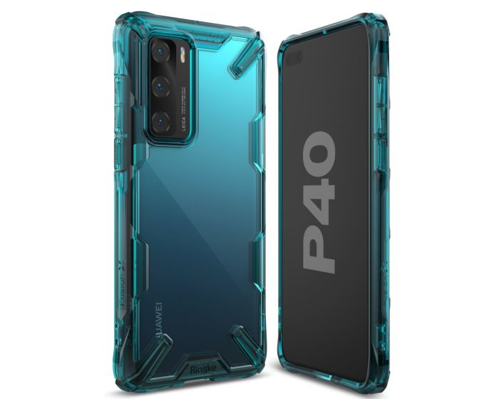 Ringke Fusion-X Σκληρή Θήκη με TPU Bumper Turquoise Green (Huawei P40)