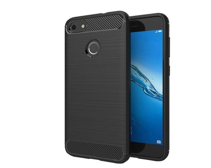 TPU Carbon Rugged Armor Case - Black (Huawei P9 Lite Mini)