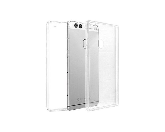 Forcell Full Face Ultra Thin 0.3mm Silicone Case Όψης & Πλάτης Διάφανη (Huawei P9 Plus)
