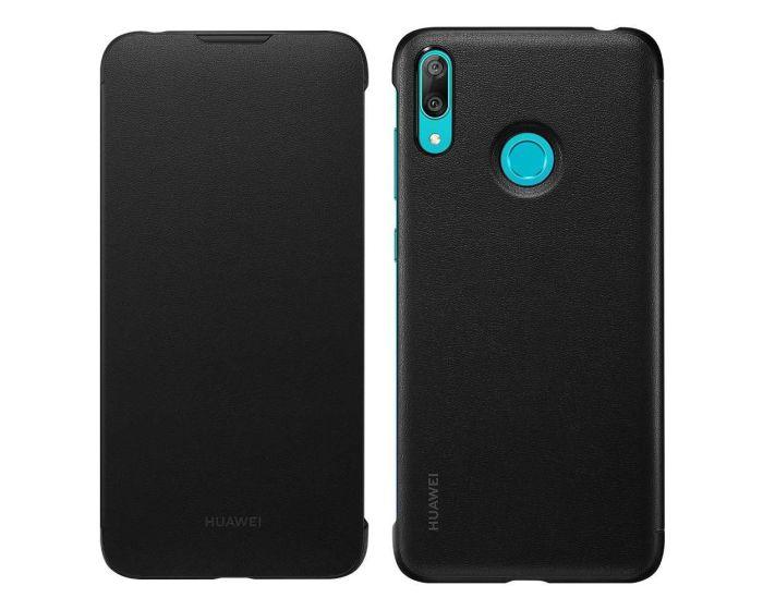 Huawei Wallet Flip Cover Case (51992902) Θήκη Πορτοφόλι Black (Huawei Y7 2019 / Y7 Prime 2019)