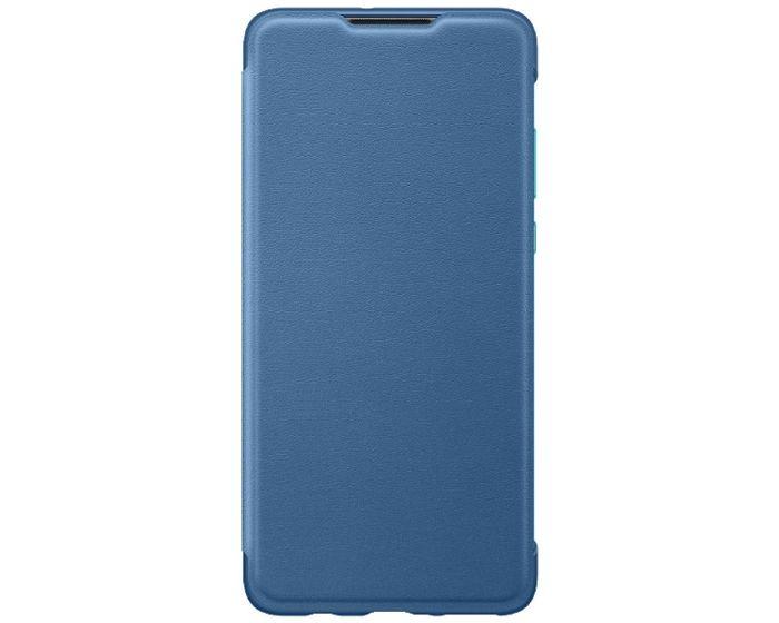 Huawei Wallet Flip Cover Case (51993080) Θήκη Πορτοφόλι Blue (Huawei P30 Lite)