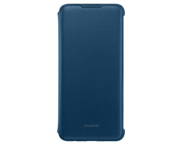Huawei Wallet Flip Cover Case (51992895) Θήκη Πορτοφόλι Blue (Huawei P Smart 2019 / Honor 10 Lite)
