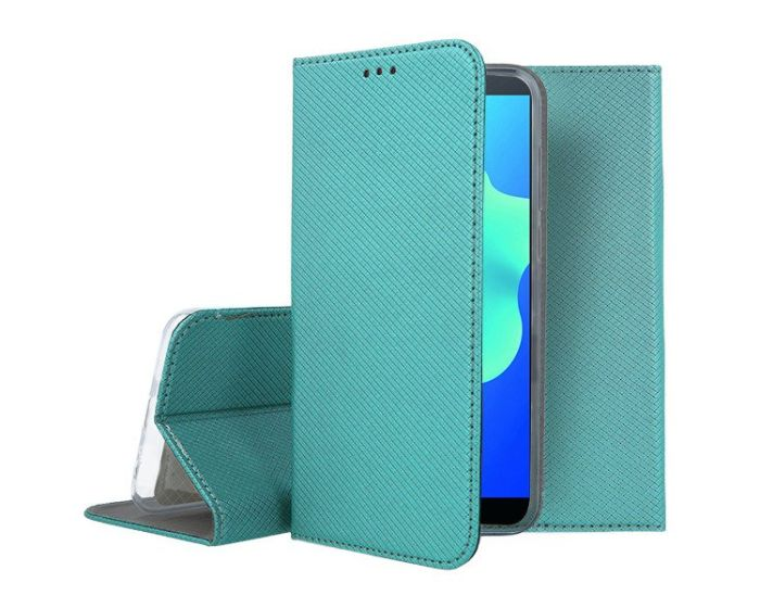 Forcell Smart Book Case με Δυνατότητα Stand Θήκη Πορτοφόλι Turquoise (Huawei Y5 2018)
