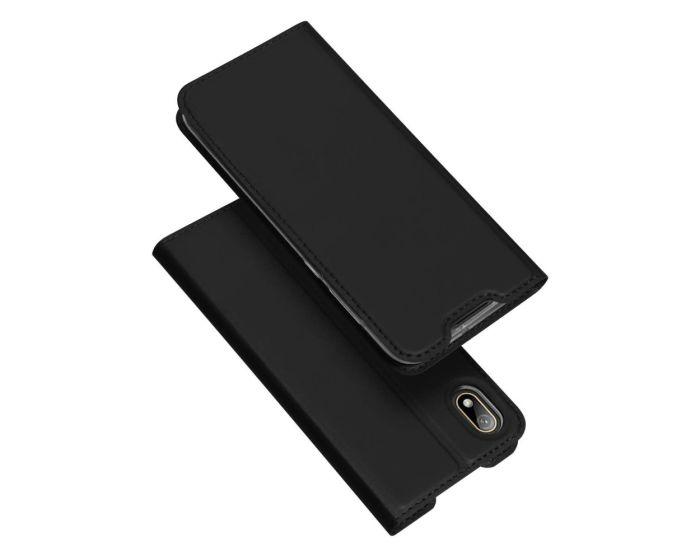 DUX DUCIS SkinPro Wallet Case Θήκη Πορτοφόλι με Stand - Black (Huawei Y5 2019)