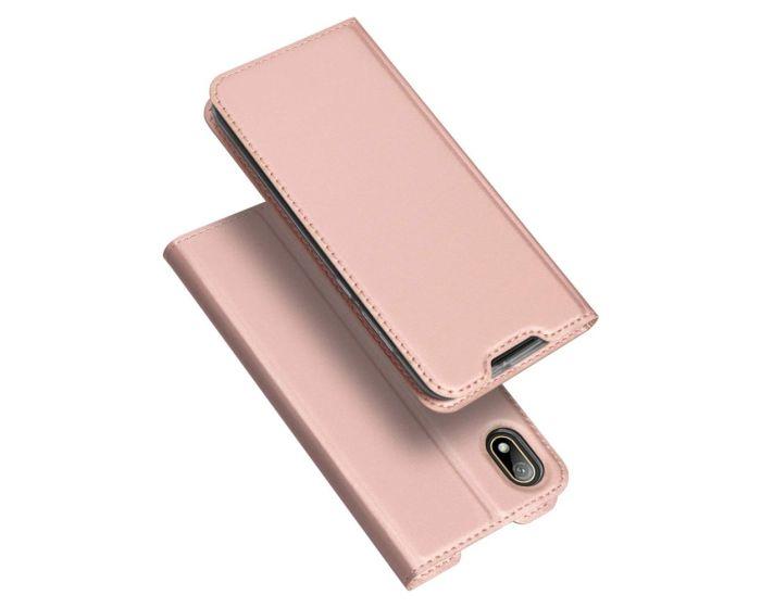 DUX DUCIS SkinPro Wallet Case Θήκη Πορτοφόλι με Stand - Rose Gold (Huawei Y5 2019)