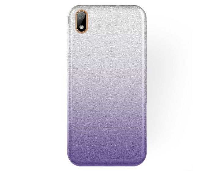 Forcell Glitter Shine Cover Hard Case Clear / Violet (Huawei Y5 2019)