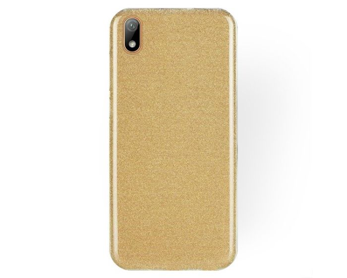 Forcell Glitter Shine Cover Hard Case Gold (Huawei Y5 2019)
