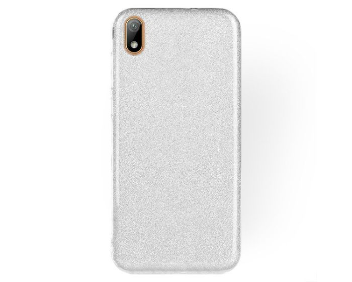 Forcell Glitter Shine Cover Hard Case Silver (Huawei Y5 2019)