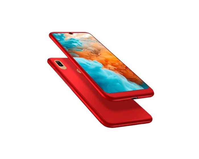 360 Full Cover Case & Tempered Glass - Red (Huawei Y5 2019)