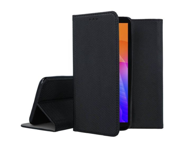 Forcell Smart Book Case με Δυνατότητα Stand Θήκη Πορτοφόλι Black (Huawei Y5P / Honor 9s)