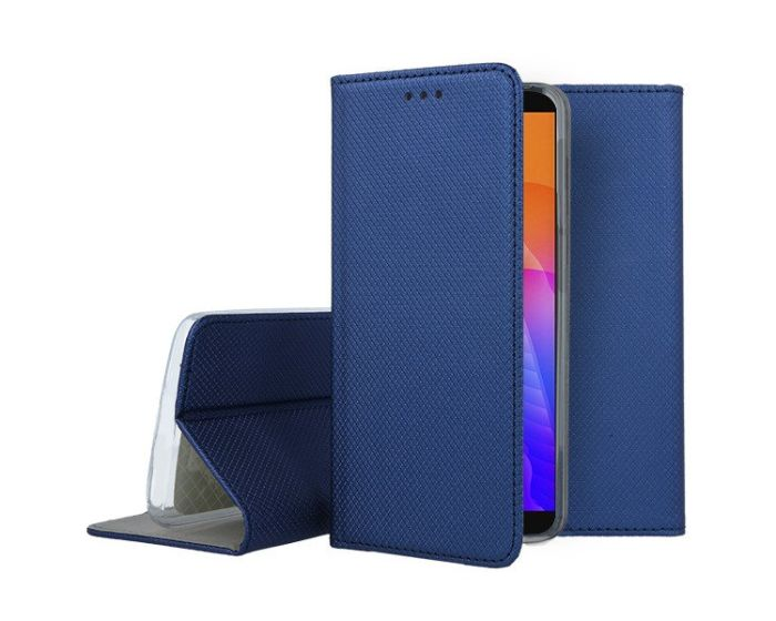 Forcell Smart Book Case με Δυνατότητα Stand Θήκη Πορτοφόλι Navy Blue (Huawei Y5P / Honor 9s)