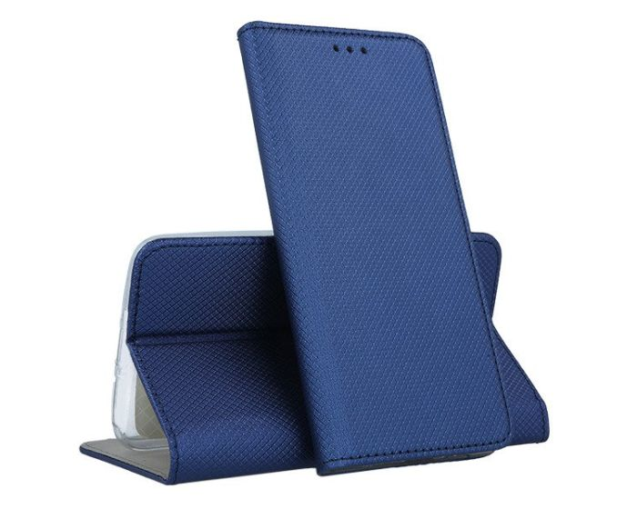 Forcell Smart Book Case με Δυνατότητα Stand Θήκη Πορτοφόλι Navy Blue (Huawei Y6 2019)