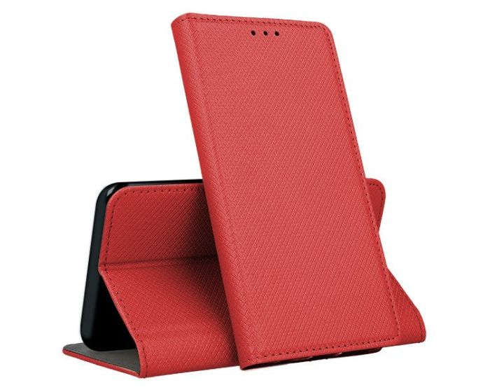 Forcell Smart Book Case με Δυνατότητα Stand Θήκη Πορτοφόλι Red (Huawei Y6 2019)