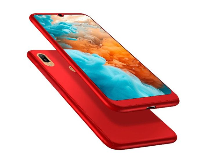 360 Full Cover Case & Tempered Glass - Red (Huawei Y6 2019 / Honor 8A)