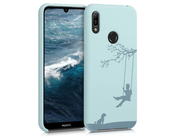 KWmobile Flexible Rubber Case Engraved Kid on Swing (51181.03) Θήκη Σιλικόνης Mint (Huawei Y6 2019)