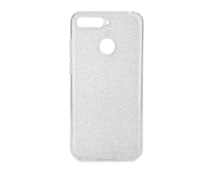 Forcell Glitter Shine Cover Hard Case Silver (Huawei Y6 Prime 2018)
