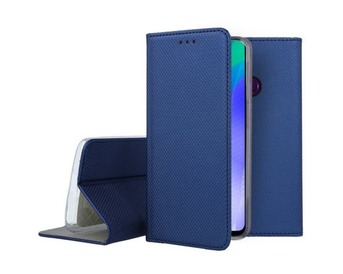 Forcell Smart Book Case με Δυνατότητα Stand Θήκη Πορτοφόλι Navy Blue (Huawei Y6P)