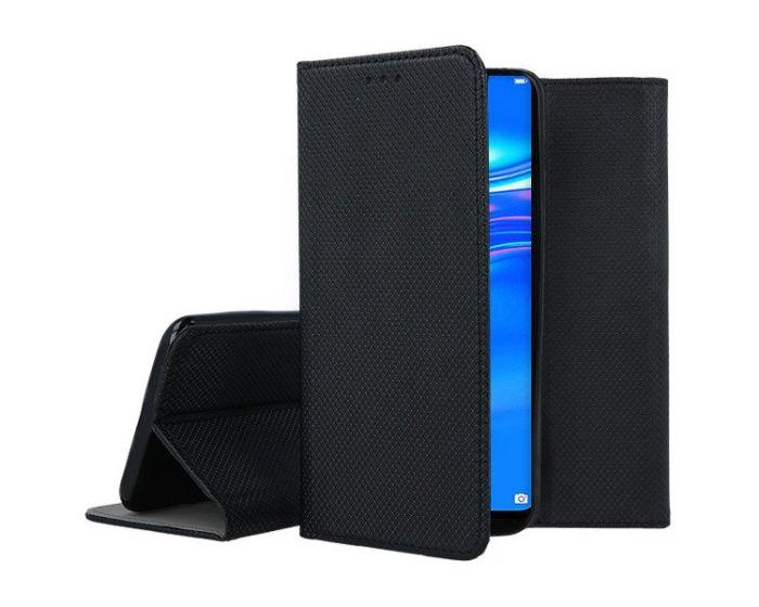 Forcell Smart Book Case με Δυνατότητα Stand Θήκη Πορτοφόλι Black (Huawei Y7 2019 / Y7 Prime 2019)
