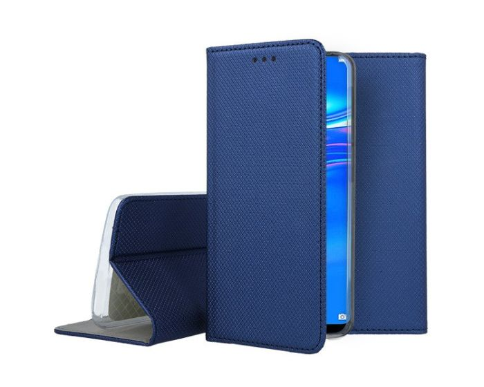 Forcell Smart Book Case με Δυνατότητα Stand Θήκη Πορτοφόλι Navy Blue (Huawei Y7 2019 / Y7 Prime 2019)