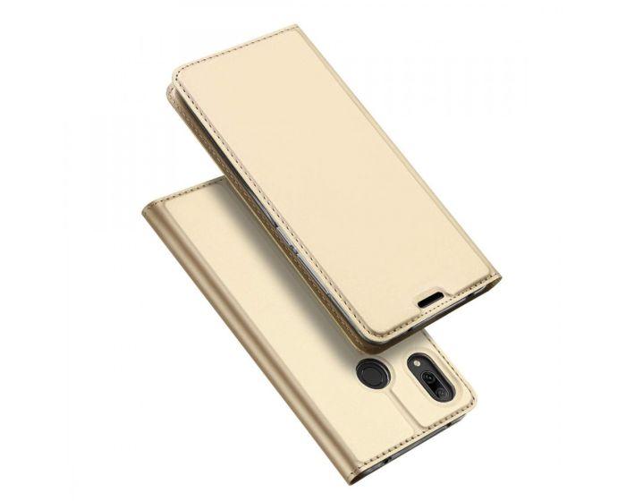 DUX DUCIS SkinPro Wallet Case Θήκη Πορτοφόλι με Stand - Gold (Huawei Y7 2019 / Y7 Prime 2019)