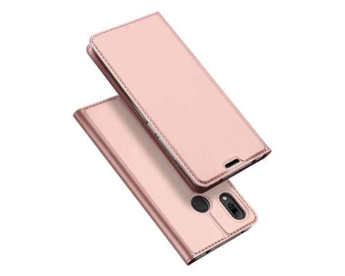 DUX DUCIS SkinPro Wallet Case Θήκη Πορτοφόλι με Stand - Rose Gold (Huawei Y7 2019 / Y7 Prime 2019)