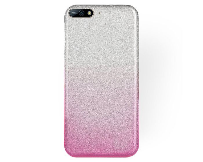 Forcell Glitter Shine Glitter Cover Hard Case Silver / Pink (Huawei Y7 Pro 2018)