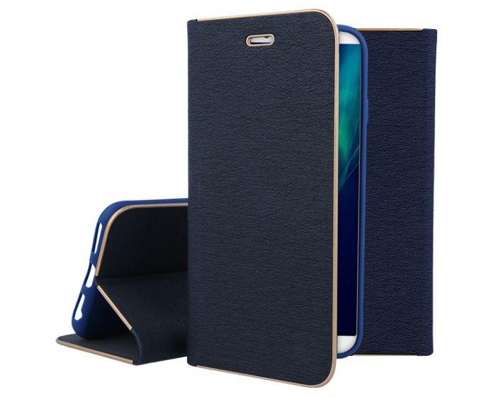 Vennus Book Case με Δυνατότητα Stand - Θήκη Πορτοφόλι Μπλε (Huawei Y9 2018)