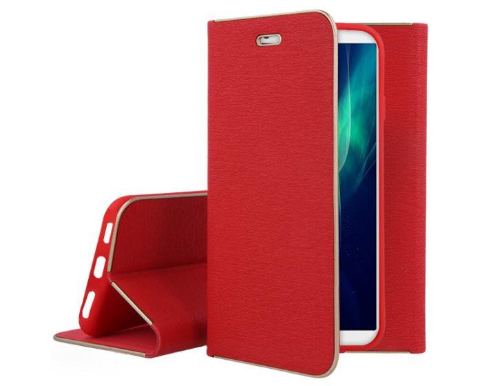 Vennus Book Case με Δυνατότητα Stand - Θήκη Πορτοφόλι Κόκκινη (Huawei Y9 2018)