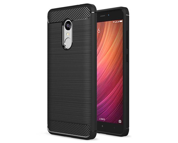 TPU Carbon Rugged Armor Case - Black (Xiaomi Redmi Note 4 / 4X)