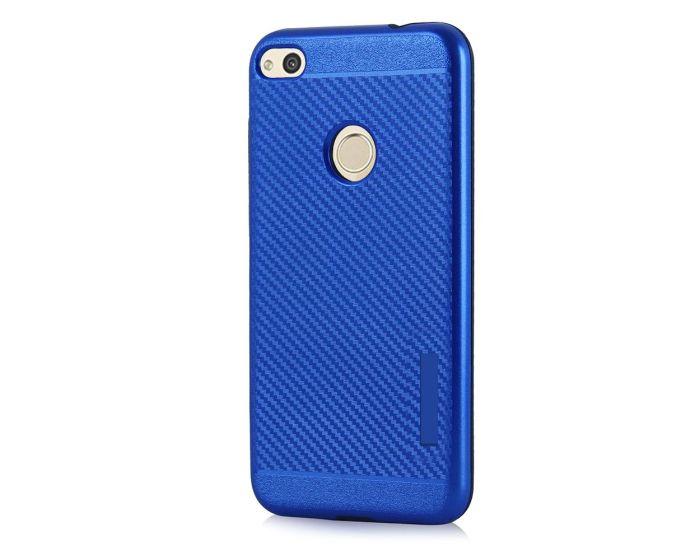Carbon Slim Armor Case Ανθεκτική Θήκη - Blue (Huawei P8 Lite 2017 / P9 Lite 2017)