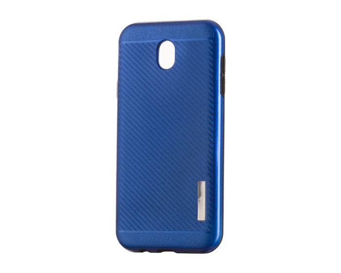 Carbon Slim Armor Case Ανθεκτική Θήκη - Blue (Samsung Galaxy J7 2017)