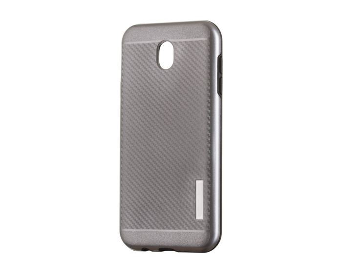Carbon Slim Armor Case Ανθεκτική Θήκη - Grey (Samsung Galaxy J3 2017)