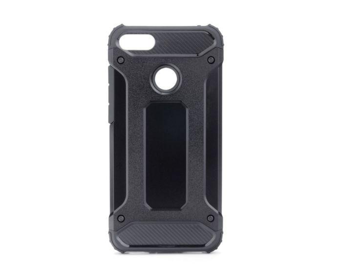 Forcell Hybrid Tech Armor Case Ανθεκτική Θήκη - Black (Huawei Y7 Prime 2018)