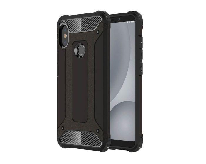 Forcell Hybrid Tech Armor Case Ανθεκτική Θήκη - Black (Xiaomi Mi A2 Lite / Redmi 6 Pro)