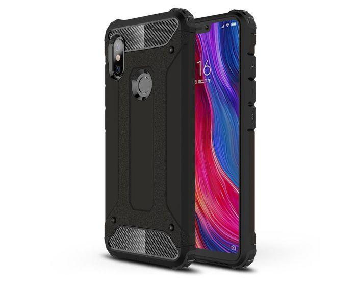 Forcell Hybrid Tech Armor Case Ανθεκτική Θήκη - Black (Xiaomi Redmi Note 6 Pro)