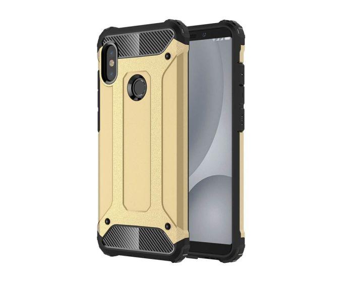 Forcell Hybrid Tech Armor Case Ανθεκτική Θήκη - Gold (Xiaomi Mi A2 Lite / Redmi 6 Pro)