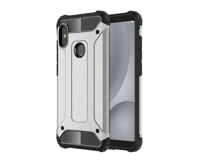 Forcell Hybrid Tech Armor Case Ανθεκτική Θήκη - Silver (Xiaomi Mi A2 Lite / Redmi 6 Pro)