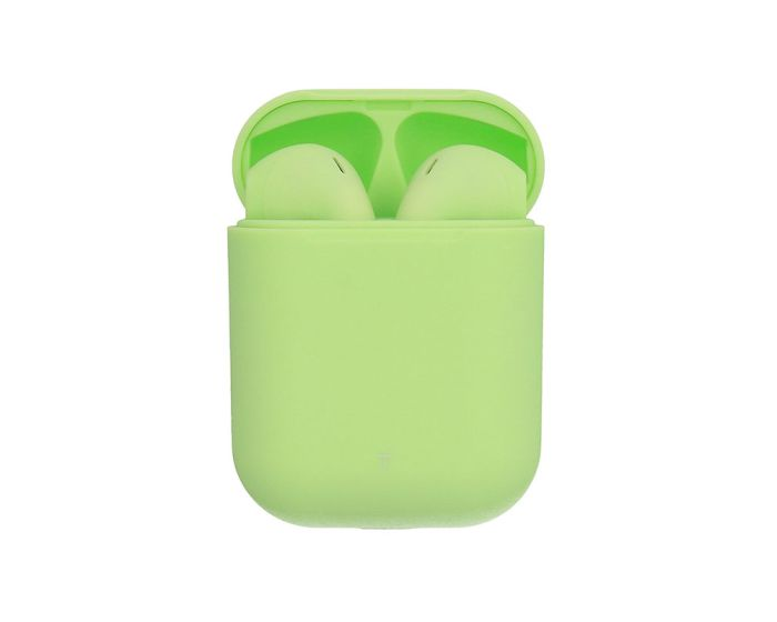 inPods 12 TWS Wireless Bluetooth Stereo Earbuds with Charging Box - Green