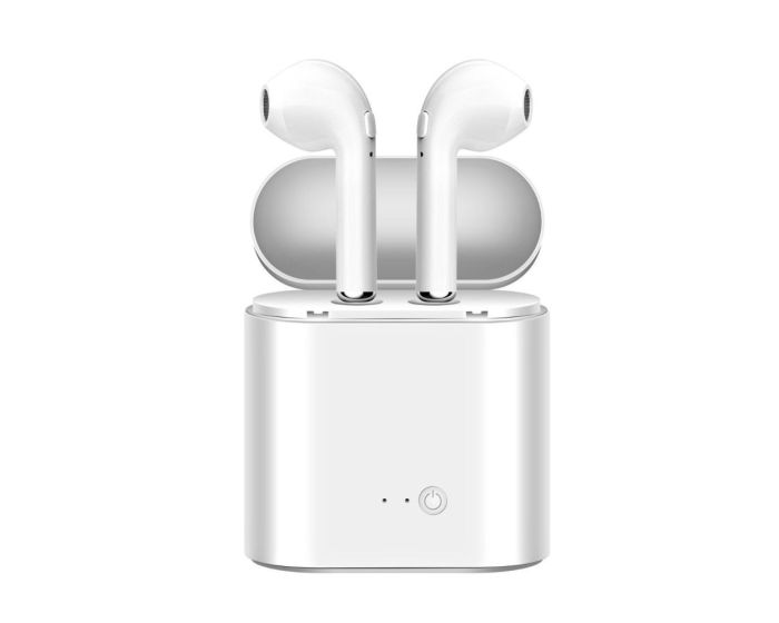 i7s TWS Wireless Bluetooth Stereo Earbuds with Charging Box - White