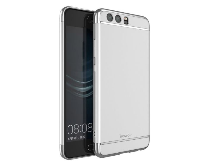 iPAKY Luxury Armor 3 in 1 Case Silver (Huawei P10)
