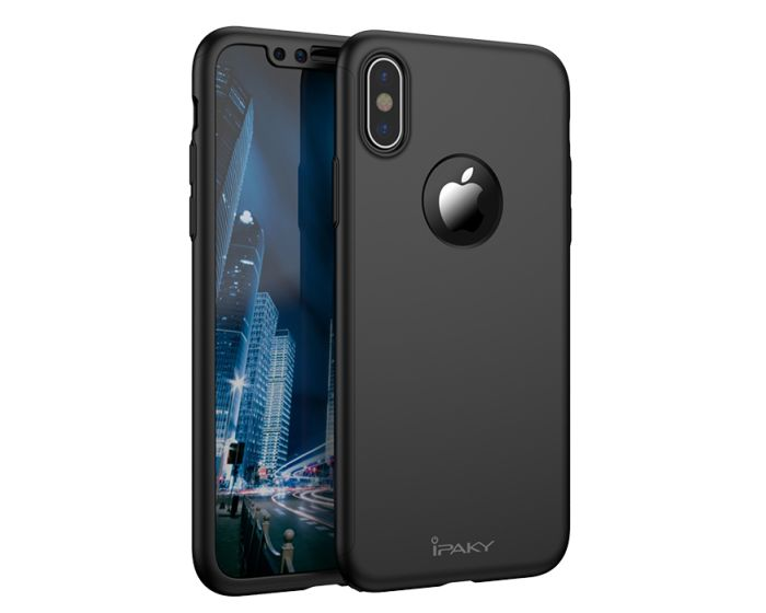 iPAKY 360 Full Cover Case & Screen Protector - Black (iPhone X)