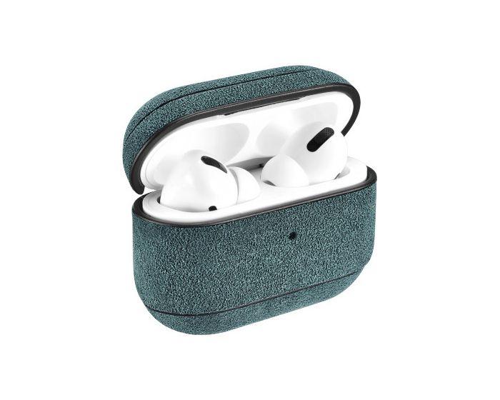 iCarer Alcantara Leather AirPods Pro Case Θήκη για Apple Airpods Pro - Dark Green