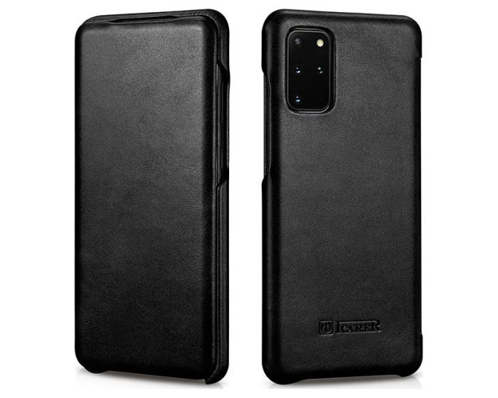 iCarer Vintage Series Curved Edge Δερμάτινη Θήκη Black (Samsung Galaxy S20 Plus)