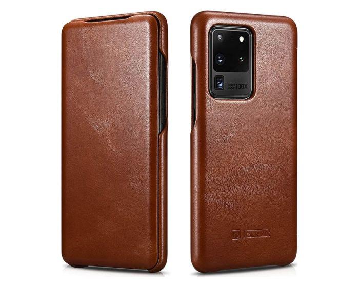 iCarer Vintage Series Curved Edge Δερμάτινη Θήκη Brown (Samsung Galaxy S20 Ultra)