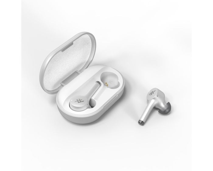 iFrogz Airtime Pro TWS Wireless Bluetooth Earbuds + Charging Case - White