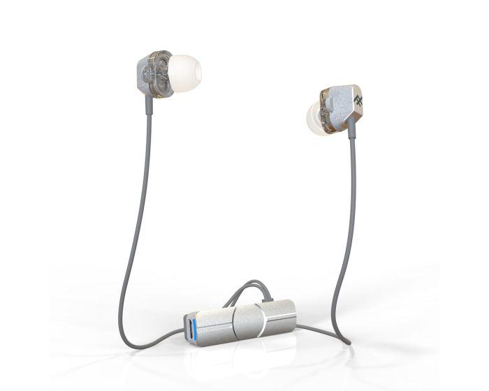 iFrogz Impulse DUO Dual Driver Ασύρματα Ακουστικά με Μικρόφωνο - White